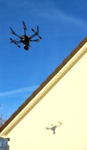 Dokumentation von Baufortschritt und zu optischen Kontrolle von Dachrinnen u. Dächern.